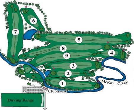 McKay Creek Golf Course layout image